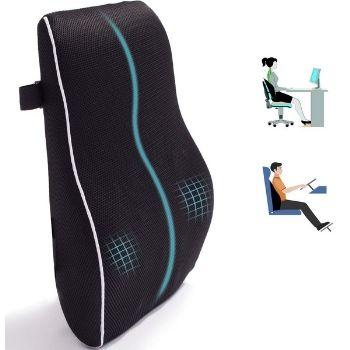 Adofys Lumbar Support Pillow, Memory Foam Back Cushion